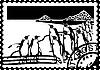 Briefmarke mit den Pinguinen in der Arktis