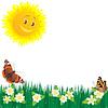 Wiese Blumen und Schmetterlingen