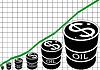 Der Graph der Ölförderung