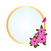 Rahmen mit Wiesenblumen