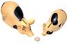 Dos cerdos han encontrado monedas | Foto de stock