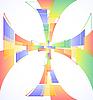 Красочный фон с крестом | Векторный клипарт