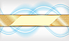 Złoto i niebieskim tle | Stock Vector Graphics