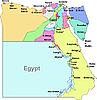 Landkartve von Ägypten