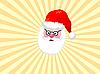 Дед Мороз в желтых лучах | Векторный клипарт