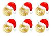 Sechs Weihnachts-Werbeaufkleber