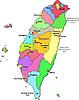 Landkarte von Taiwan