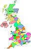 Landkarte von Großbritannien