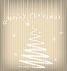 ID 3092511 | Weihnachtskarte mit stilisierter Tanne | Stock Vektorgrafik | CLIPARTO