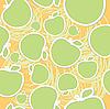 abstrakter nahtloser Apfel-Hintergrund