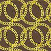 Бесшовный фон из золотых цепочек | Векторный клипарт