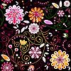 ID 3090029 | Nahtloses dunkles Blumenmuster | Stock Vektorgrafik | CLIPARTO