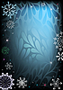 黑暗和蓝色圣诞贺卡 | 向量插图