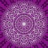 rundes dekoratives lila Muster