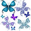 集复古蝴蝶 | 向量插图