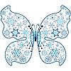 Weihnachts-Schmetterling von Schneeflocken