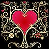 Gold valentines Rahmen