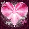 Rosa valentines Rahmen