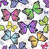 ID 3128395 | Nahtloses Muster mit Schmetterlingen | Stock Vektorgrafik | CLIPARTO