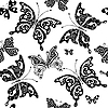 Nahtloses Muster mit Schmetterlingen