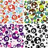 ID 3154712 | Set von nahtlosen durchscheinenden Mustern | Stock Vektorgrafik | CLIPARTO