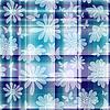 Vektor Cliparts: Wiederholendes florales kariertes Muster