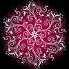 Florales rundes Ornament