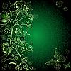 Dunkelgrüne Blumenkarte