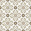Nahtloses braun-weißes Vintage-Muster