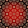 Nahtlose rot-schwarz-gelb vintage Muster
