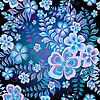 Ciemny bez szwu kwiatowy wzór | Stock Illustration