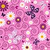 핑크 원활한 꽃 패턴 | Stock Vector Graphics