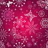 无缝紫圣诞模式 | 向量插图