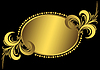 Oval golden vintage frame | Stock Vector Graphics