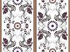 Weiß floral nahtlose Muster