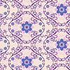 Nahtlose rosa-blaues Blumenmuster