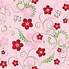 Бесшовный цветочный узор | Векторный клипарт