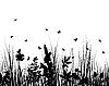 Silhouetten an der Wiese