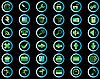 Set von Icons