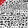 ID 3088036 | Набор силуэтов животных | Иллюстрация большого размера | CLIPARTO