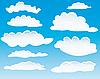 verschiedene Wolken