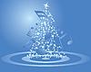 Weihnachtskarte mit Tanne und Noten