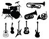 Набор музыкальных инструментов | Векторный клипарт