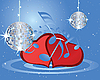 Musik-Hintergrund mit Herzen
