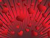 Hintergrund von roten Herzen