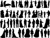Sylwetki ślub | Stock Vector Graphics