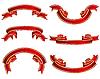 Set von roten Bändern | Stock Vektrografik