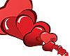 ID 3101012 | Background czerwonych serc | Klipart wektorowy | KLIPARTO