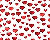 nahtloser Hintergrund von roten Herzen