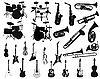 ID 3108071 | Set von Musikinstrumenten | Stock Vektorgrafik | CLIPARTO